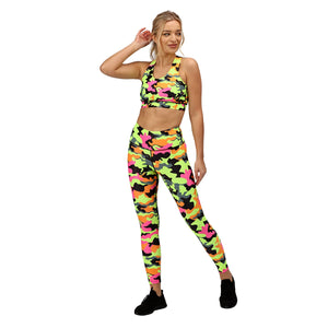 Tikiboo Fruit Salad Camo Tights - Front Model View