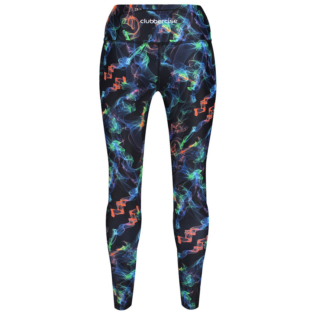 Tikiboo Clubbercise Neon Haze Pants - Back Product View
