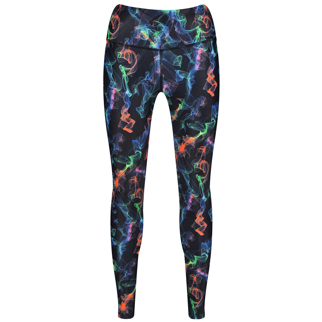 Tikiboo Clubbercise Neon Haze Leggings - Front Product View