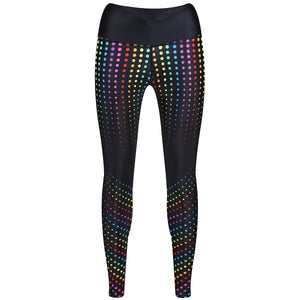 Tikiboo Clubbercise Rainbow Raver Leggings - Front Product View