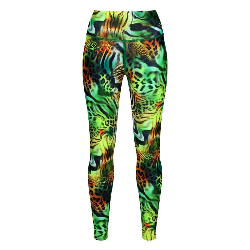Tikiboo Jungle Patchwork Leggings - Front Product View
