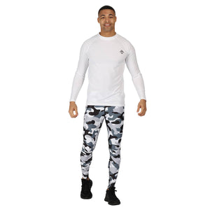 Tikiboo Monochrome Camo Tights - Front Male Model View
