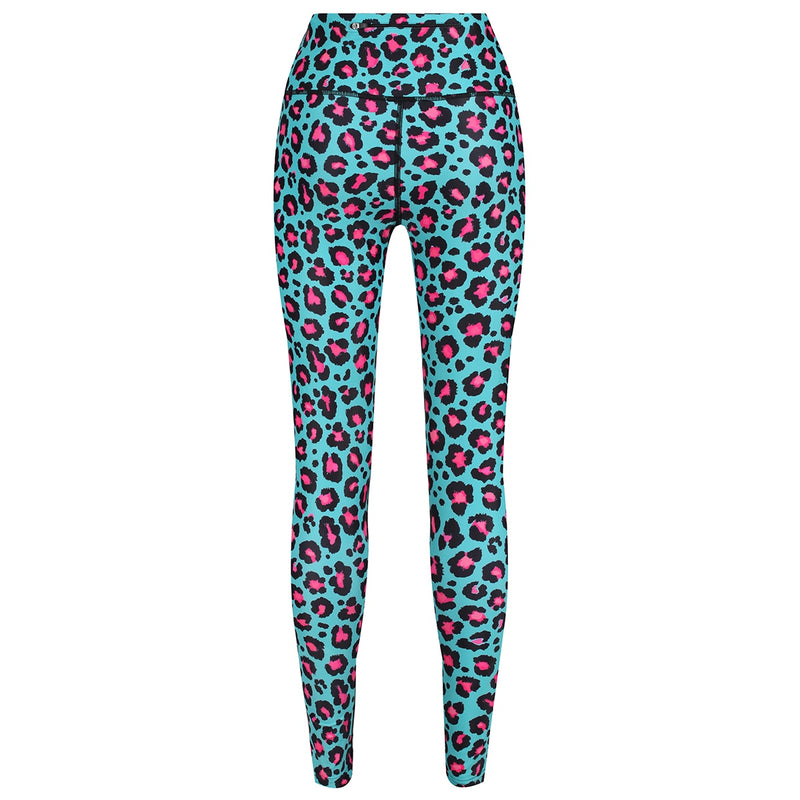 Tikiboo Minty Leopard Pants - Back Product View
