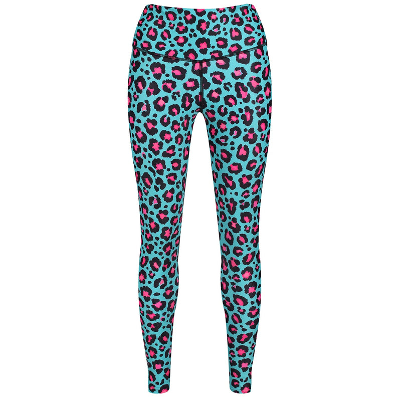 Tikiboo Minty Leopard Leggings - Front Product View