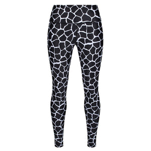 Tikiboo Monochrome Giraffe Leggings - Front Product View