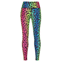 Tikiboo Neon Leopard Pants - Back Product View