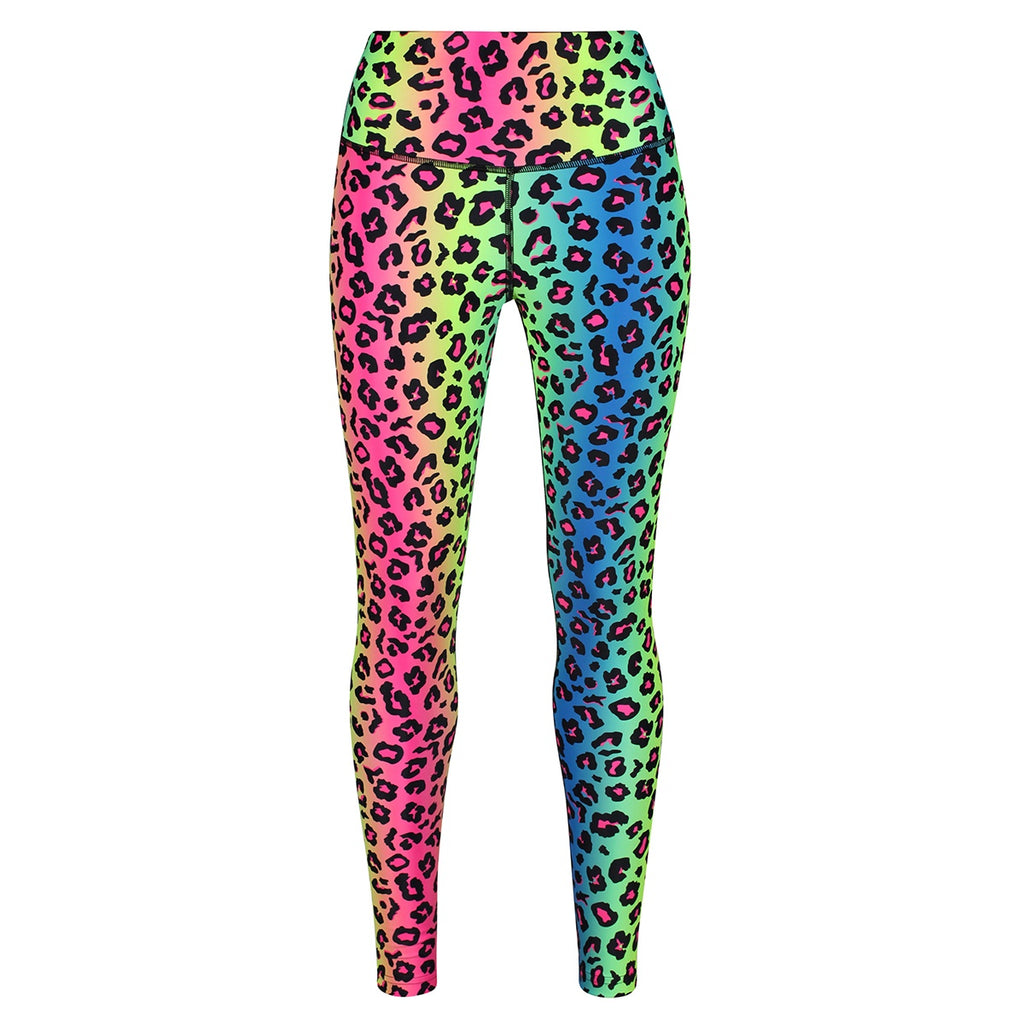 Tikiboo Neon Leopard Leggings - Front Product View