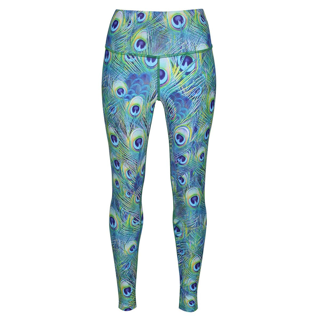 Tikiboo Peacock Feathers Leggings - Front Product View