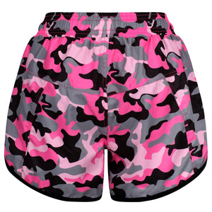 Tikiboo Strawberry Sundae Camo Loose Fit Exercise Pants - Back Product View