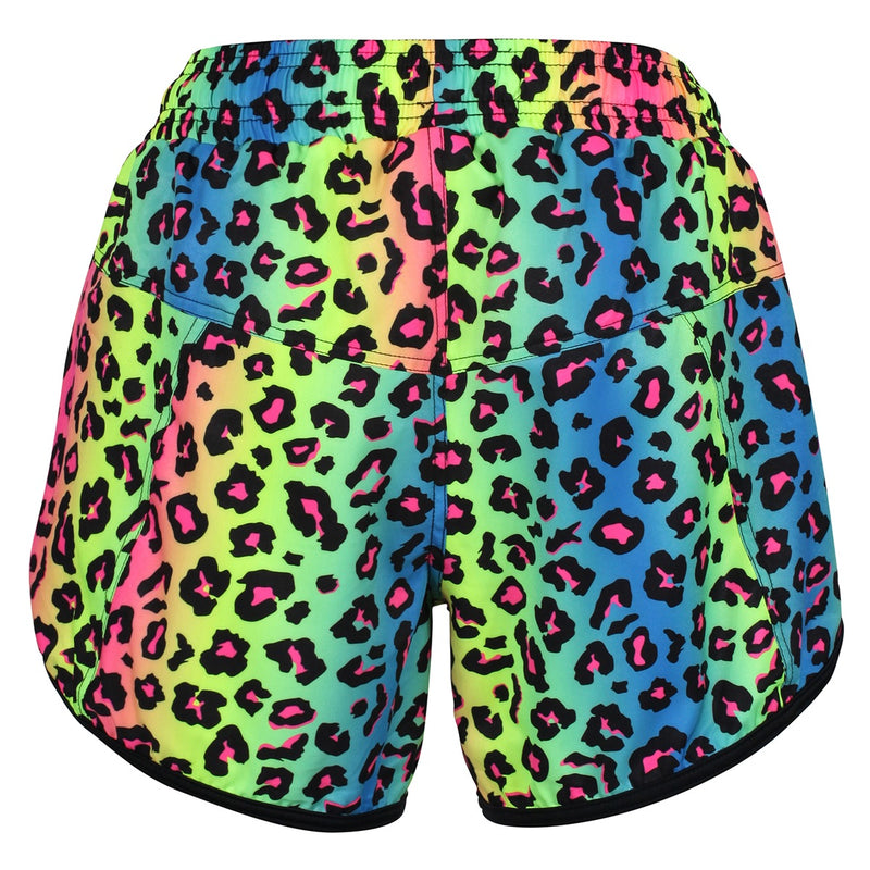 Tikiboo Neon Leopard Loose Fit Exercise Pants - Back Product View