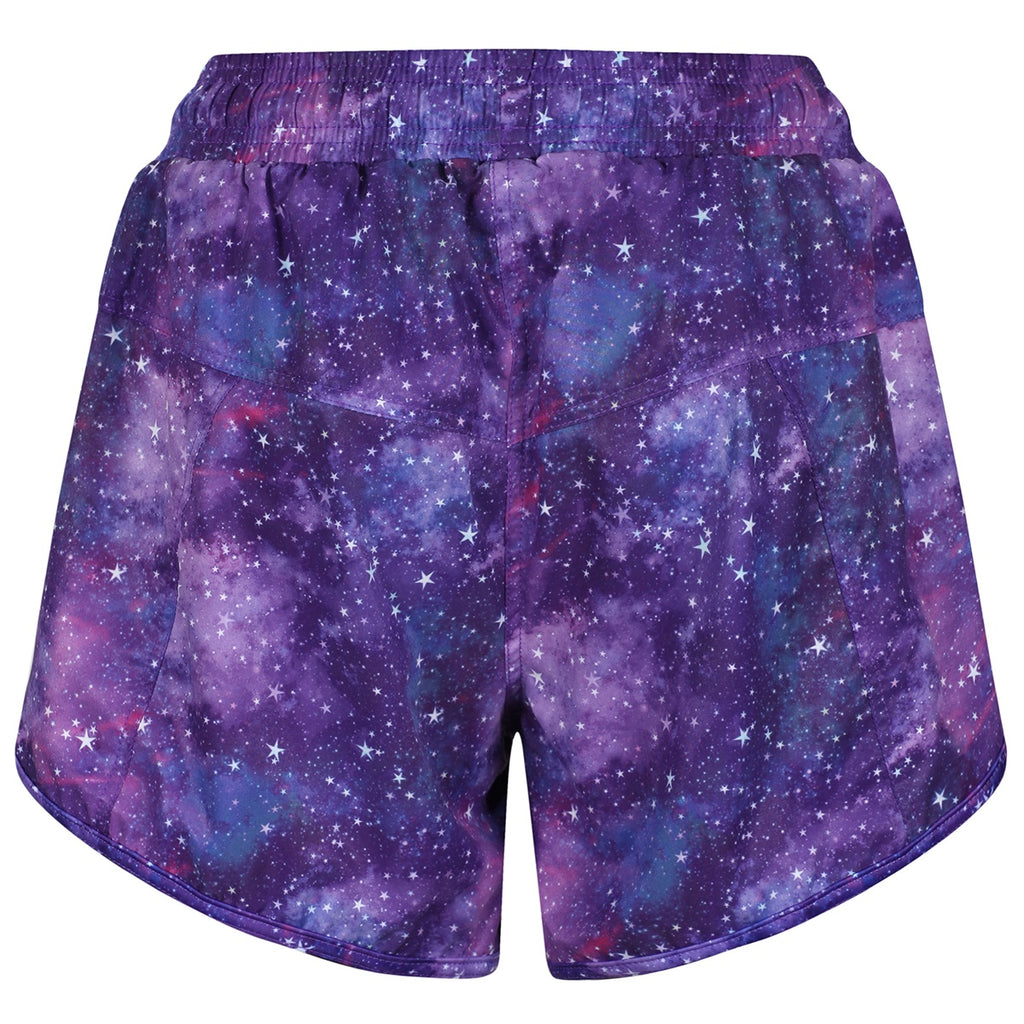 Galactic Night Loose Fit Workout Shorts