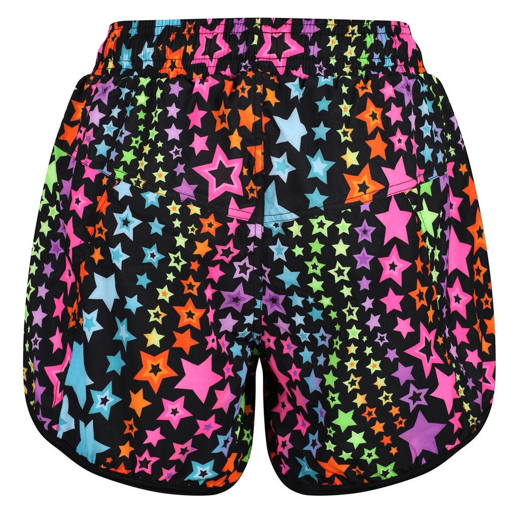 Tikiboo Neon Stars Loose Fit Exercise Pants - Back Product View