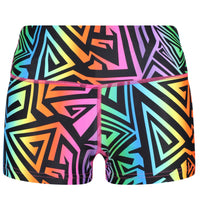 Tikiboo Mr Motivator '90s Guru Booty Shorts - Front Product View