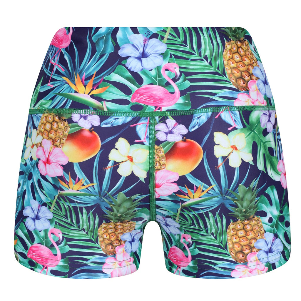 Tikiboo Mr Motivator Goes Tropical Booty Short LYCRA - Back Product View