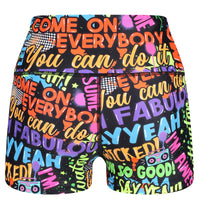 Tikiboo Mr Motivator 'Says' Booty Short LYCRA - Back Product View