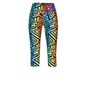 Tikiboo Mr Motivator '90s Guru Cropped Tights - Back Product View