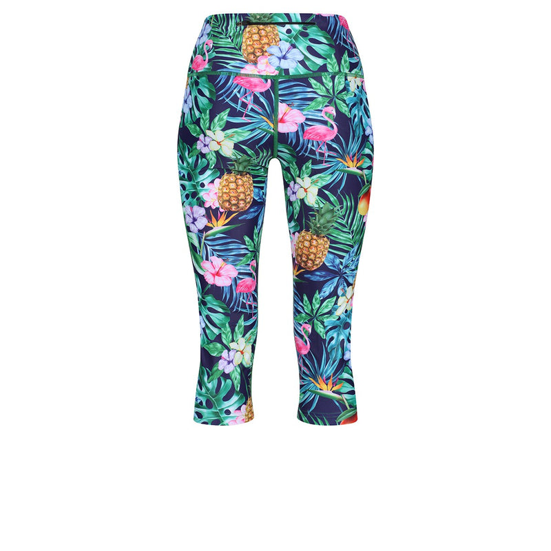 Tikiboo Mr Motivator Goes Tropical Cropped Tights - Back Product View