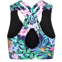 Tikiboo Mr Motivator Goes Tropical Cross Back Fitness Bra - Back Product View