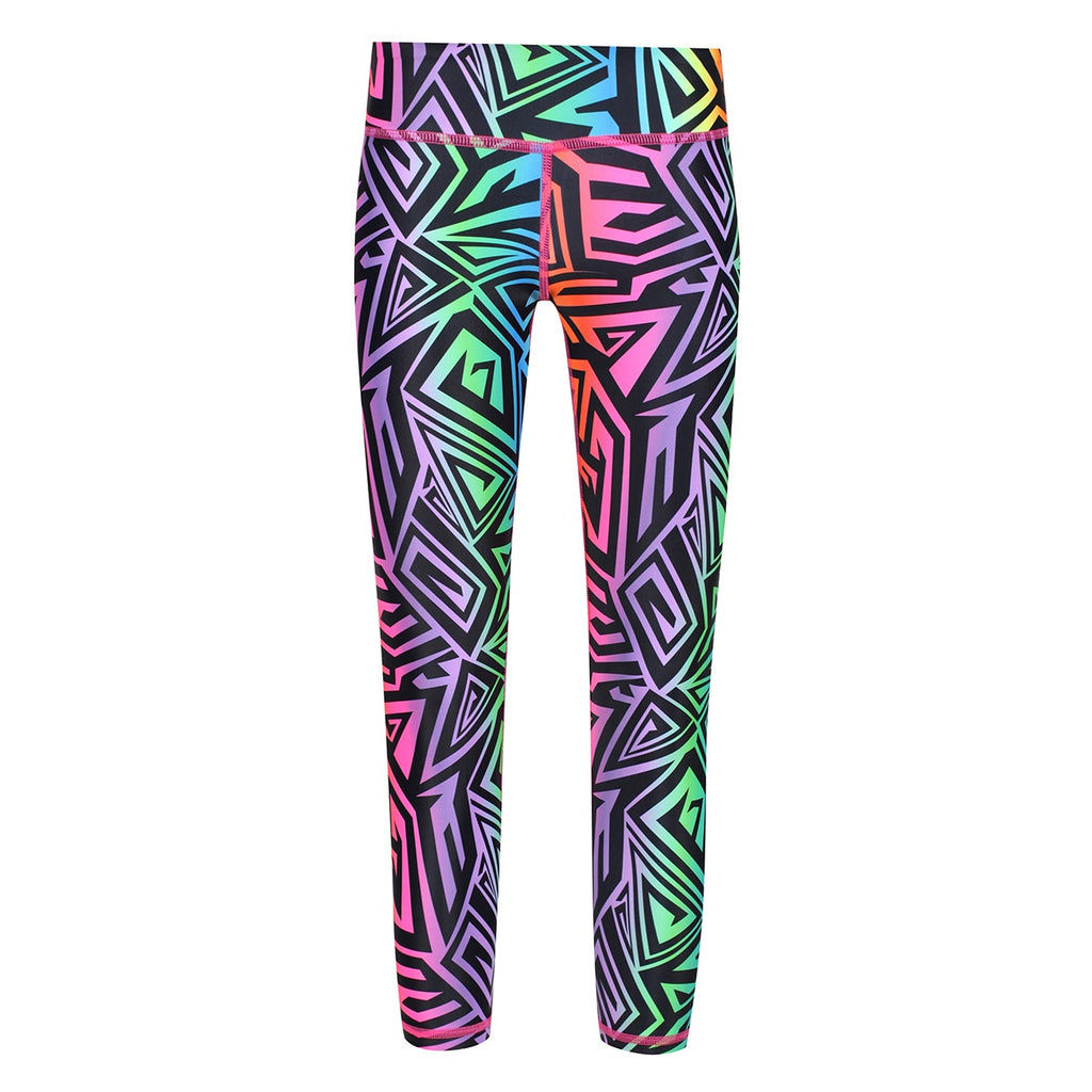 Tikiboo Mr Motivator '90s Guru Kids Leggings - Front Product View