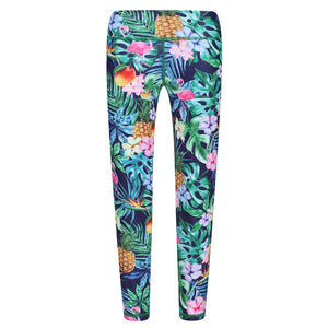 Tikiboo Mr Motivator Goes Tropical Kids Leggings - Front Product View