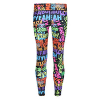 Tikiboo Mr Motivator 'Says' Kids Leggings - Front Product View