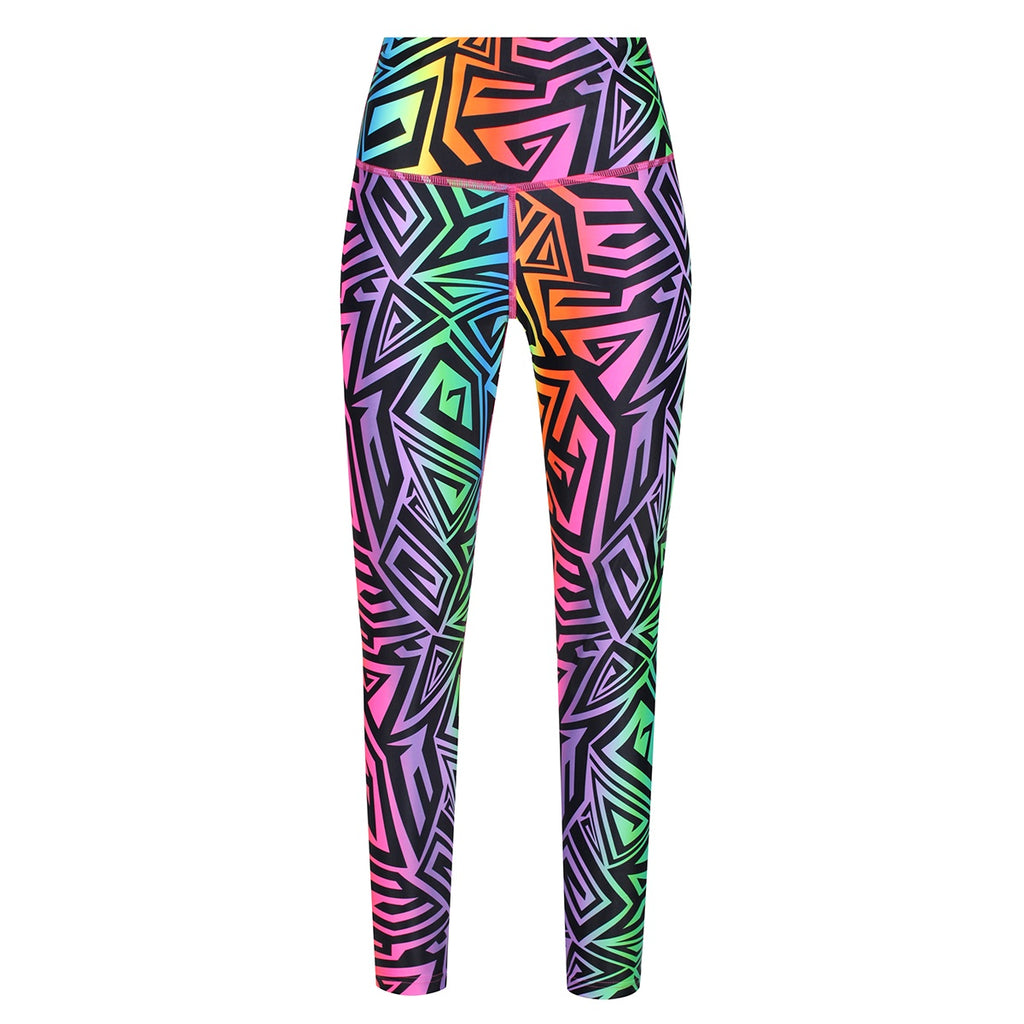 Tikiboo Mr Motivator '90s Guru Leggings - Front Product View