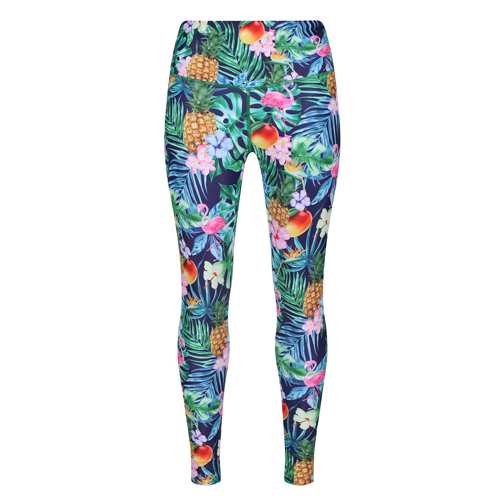 Tikiboo Mr Motivator Goes Tropical Leggings - Front Product View