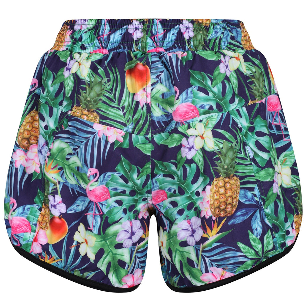 Tikiboo Mr Motivator Goes Tropical Loose Fit Exercise Pants - Back Product View