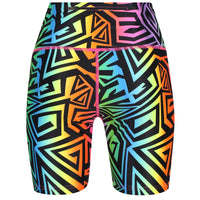 Tikiboo Mr Motivator '90s Guru Running Short LYCRA - Back Product View