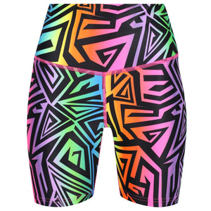 Tikiboo Mr Motivator '90s Guru Running Shorts - Front Product View