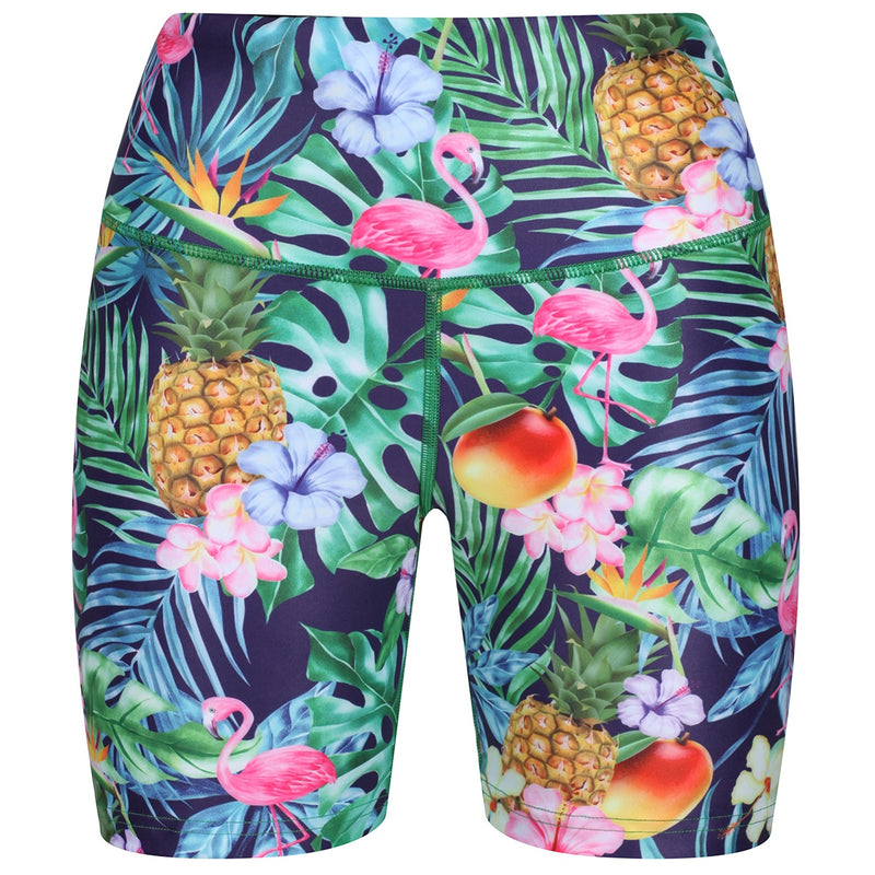Tikiboo Mr Motivator Goes Tropical Running Shorts - Front Product View