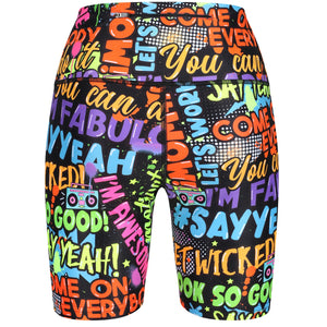 Tikiboo Mr Motivator 'Says' Running Short LYCRA - Back Product View