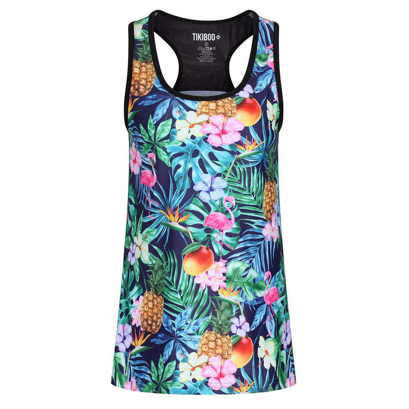 Tikiboo Mr Motivator Goes Tropical Vest - Front Product View