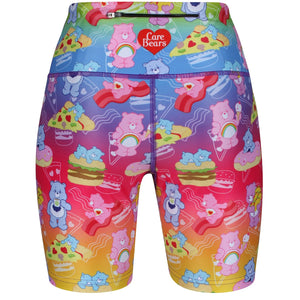 Tikiboo Care Bears Rainbow Snacks Running Short LYCRA - Back Product View