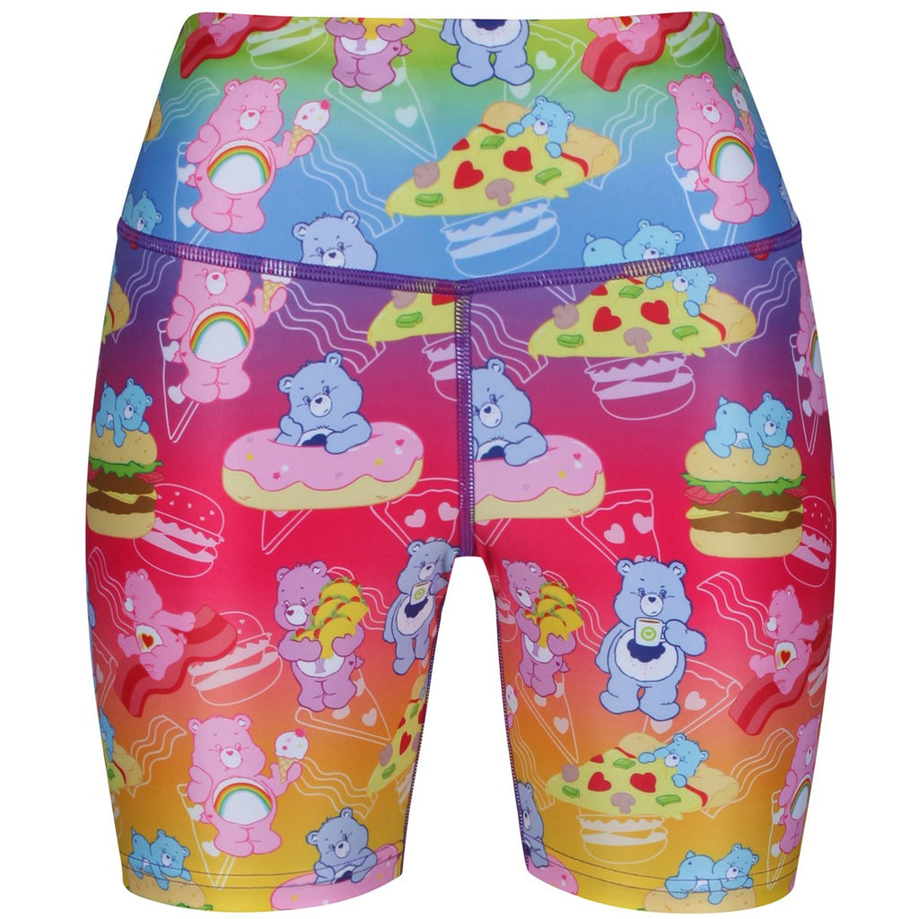 Tikiboo Care Bears Rainbow Snacks Running Shorts - Front Product View