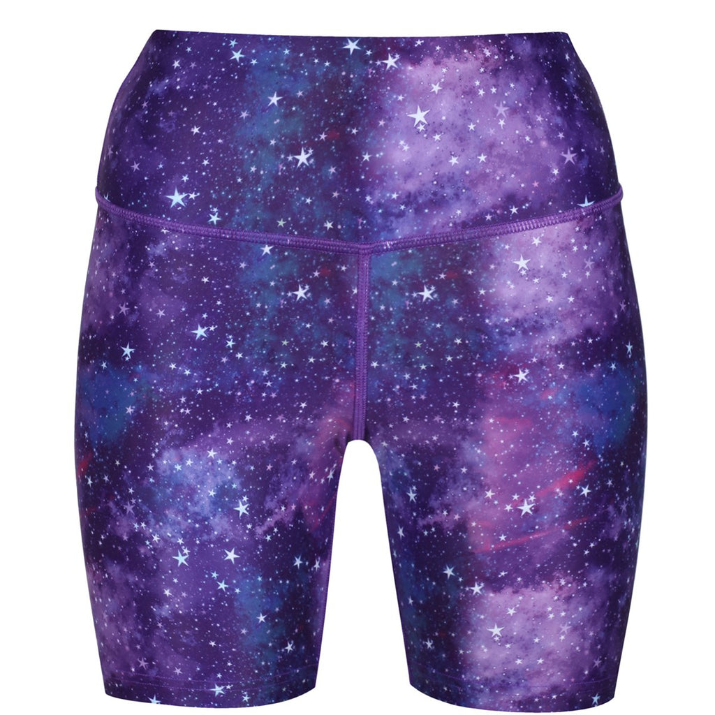 Tikiboo Galactic Night Running Shorts - Front Product View