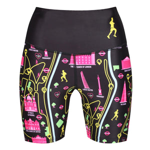 Tikiboo London Landmarks Running Shorts - Front Product View
