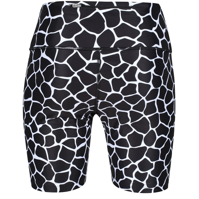 Tikiboo Monochrome Giraffe Running Short LYCRA - Back Product View