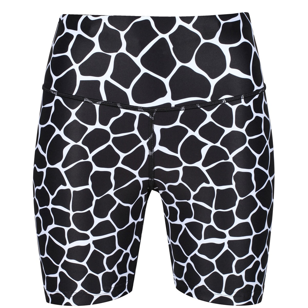 Tikiboo Monochrome Giraffe Running Shorts - Front Product View