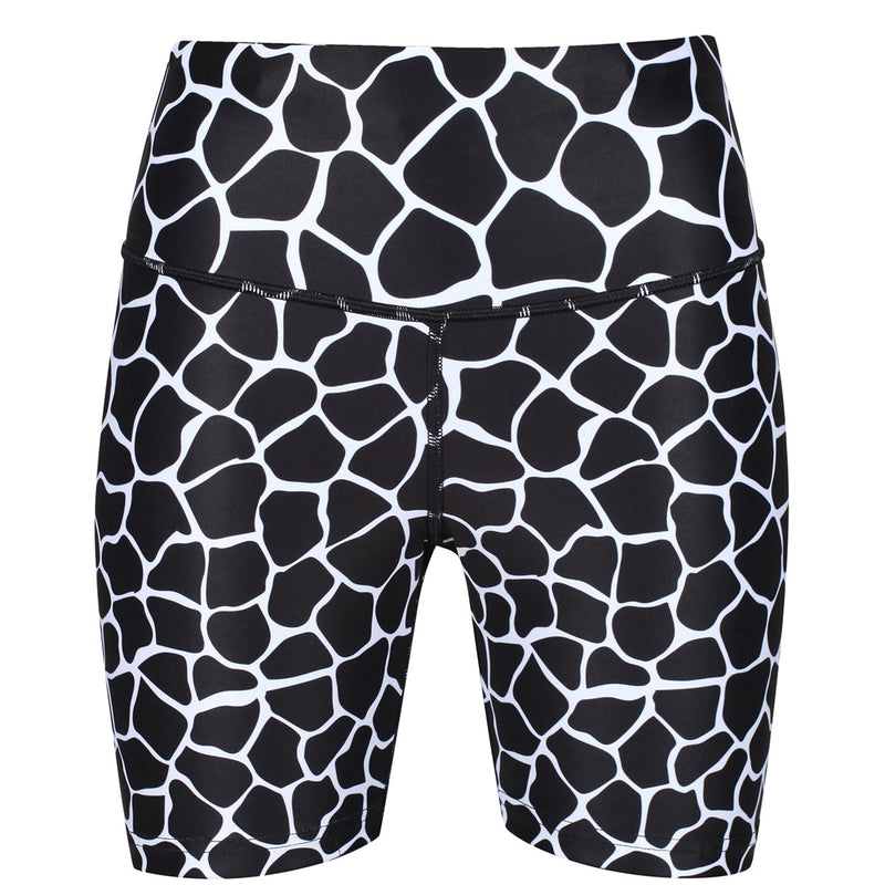 Monochrome Giraffe Running Shorts