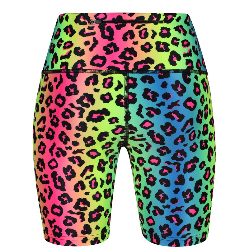 Tikiboo Neon Leopard Running Short LYCRA - Back Product View