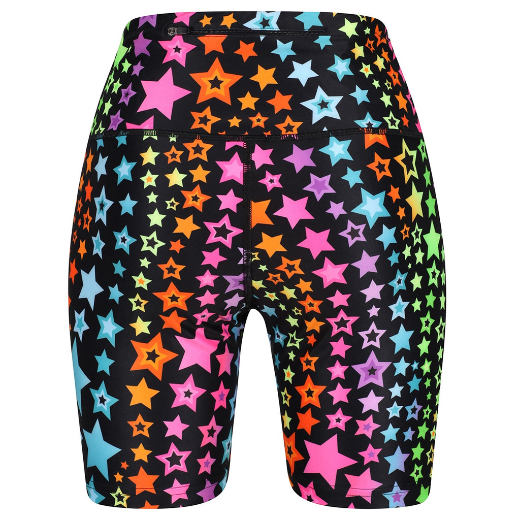 Tikiboo Neon Stars Running Short LYCRA - Back Product View