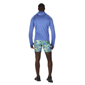 TIkiboo Peacock Feathers Running Short Pants - Back Male Model View