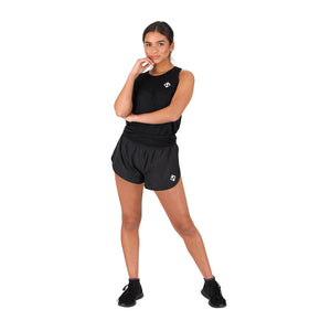 Tikiboo Black Diamond Mesh Tie Back Tank - Front Model View