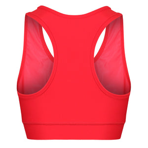 Tikiboo Red Diamond Sports Fitness Bra - Back Product View