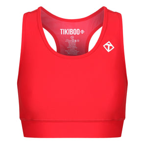 Tikiboo Red Diamond Sports Bra - Front Product View