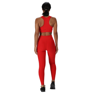 Tikiboo Red Diamond Sports Bra - Back Model View