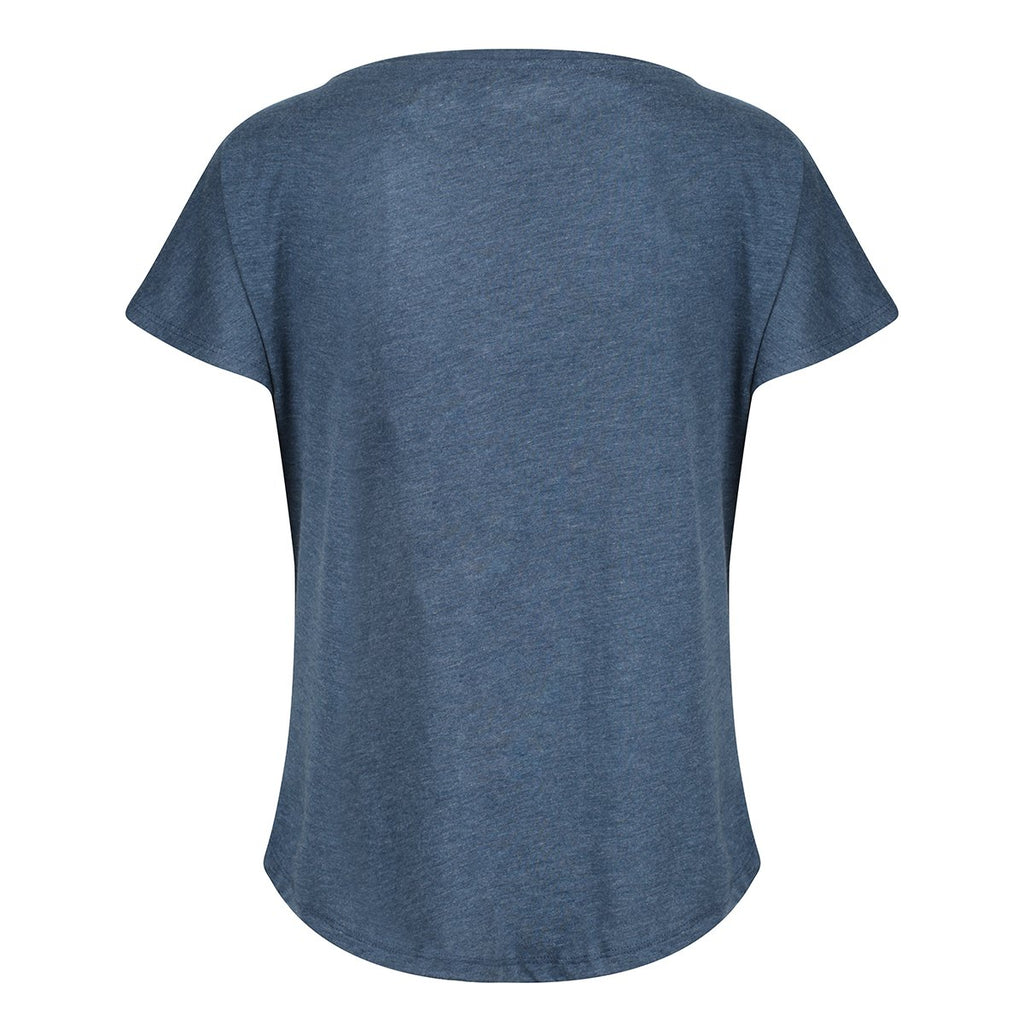 Tikiboo Indigo Athletics Tech Tee Shirt - Back Product View