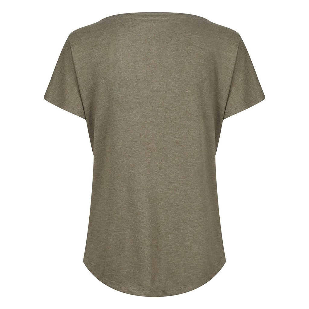 Tikiboo Military Green Athletics Tech Tee Shirt - Back Product View