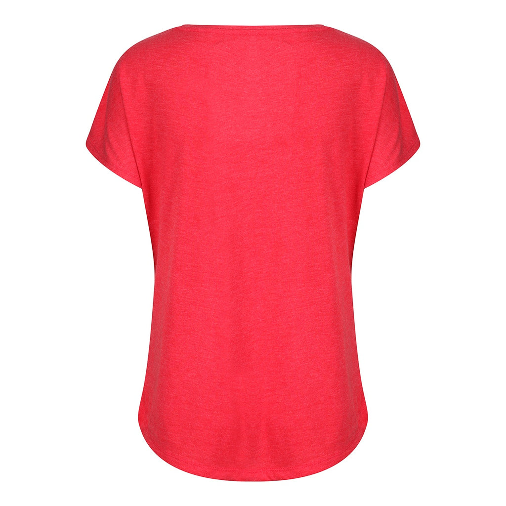 Tikiboo Vintage Red Athletics Tech Tee Shirt - Back Product View
